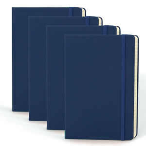 4pk Simply Genius A5 Leatherette Journal Writing Notebook Lined 5 7 X 8 4