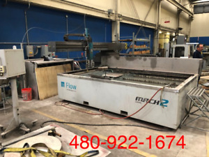 Flow Mach 2 3120 Cnc Waterjet Cutting System 6x10 Table Size 30 Hp 60k Psi 2011