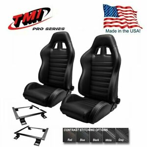 Tmi Pro Series Chicane Sport R Racing Seats W brackets 1966 72 Chevelle