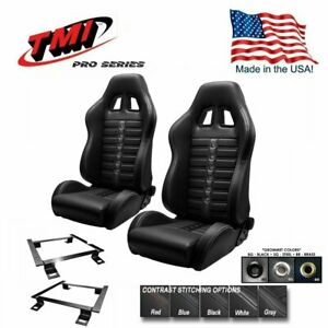 Tmi Pro Series Chicane Sport X Racing Seats W brackets 1966 1972 Chevelle bench