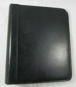 Franklin Quest pre Covey Black Top Grain Leather Classic sized Binder 1 5
