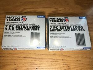 Matco Tools 14 Pc 1 4 Drive Extra Long Hex Drivers Sae And Metric New
