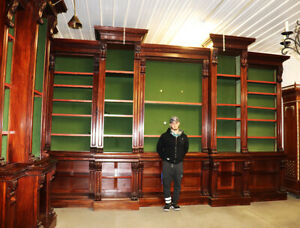 Monumental Bookcase Bookshelf Carved Walnut Victorian C1890s 1 Of 3 Available