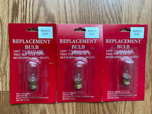 3 Star of Bethlehem Christmas Tree Topper Replacement Bulbs GXC 5612 T Lights