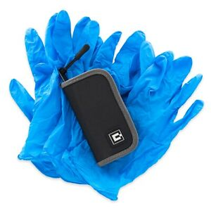 Gloves Travel Carrying Case With 5 Pairs Of Nitrile Gloves