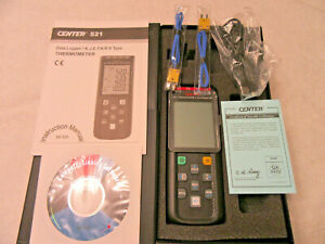 Center 521 Four Channel Datalogger Thermometer K j e t Type Open Box