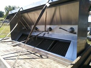 19ft 8 Exhaust Hood System 2 9 10 Hoods Ansul And Exhaust Fans
