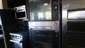 Hobart Hro550 Commercial Rotisserie Oven Double Stacked With Warmer