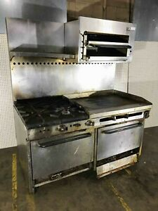 Sounthbend 60 Gas Range With 36 Griddle 4 Burners Broiler And 2 Ovens