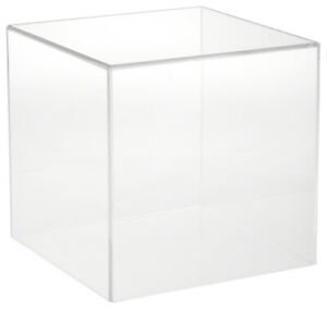 Plymor Clear Acrylic Display Case With No Base 10 X 10 X 10