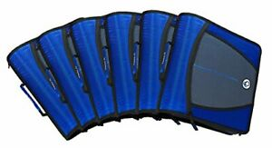 Case it Mighty Zip Tab 3 inch Zipper Binder Blue Case Of 6 D 146 c blu