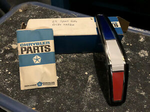 Nos 1965 Plymouth Grille Medallion Pack Sport Fury Emblem Ornament