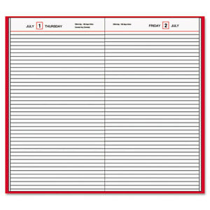 At a glance Standard Diary Daily Diary Recycled Red 7 11 16 X 12 1 8 2017