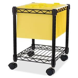 Lorell Compact Filing Cart Mobile Shelf 15 1 2 x14 x19 1 2 Bk 62950