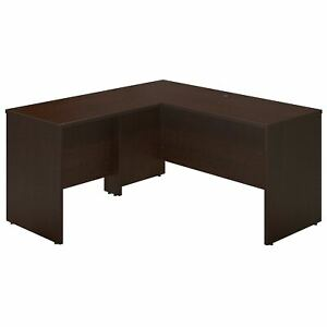 Bush Business Furniture 60w X 24d L Shaped Desk With 36w Return Mocha Cherry