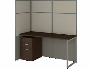 Bush Business Furniture 60w Cubicle Desk W file And 66h Open Panels Workstation