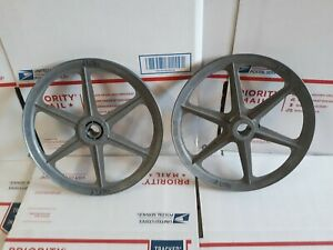 Pair Of 9 Drive Pulleys Congress A 900 Fits Vintage Lathe Steampunk
