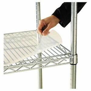 Alera Shelf Liners For Wire Shelving Clear Plastic 4 Per Pack alesw59sl3624