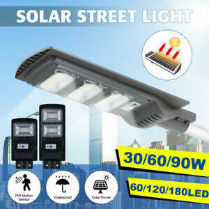 90000LM Solar LED Street Light Commercial Outdoor IP67 Area Security Road Lamp $30.59