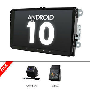 Cam obd2 for Vw Volkswagen Touareg Jetta 9 Car Radio Stereo Gps Bluetooth Touch