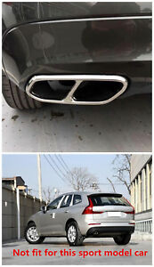 For Volvo Xc60 Stainless Exhaust Muffler Decorative Cover Trim 2pcs 2018 2019
