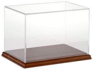 Plymor Clear Acrylic Display Case With Hardwood Base 9 W X 6 D X 6 H