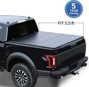 5 5 Ft For 2007 2021 Toyota Tundra Crew Max Tri Fold Hard Truck Bed Cover