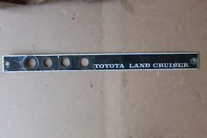 Dashboard Emblem For Toyota Land Cruiser Fj55 Used Poor Condition