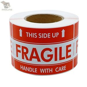 1000 Labels 3x5 Fragile This Side Up Shipping Mailing Handle With Care Stickers