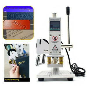 5x7cm Manual Digital Hot Foil Stamping Machine Leather Pu Logo Stamper Bronzing