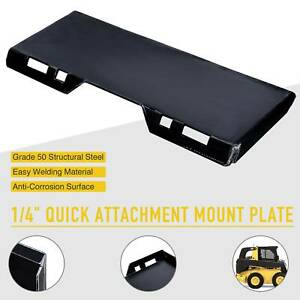 Hd 1 4 Steel Quick Attachment Mount Plate For Kubota Bobcat Skidsteer Tractor