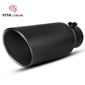 Yitamotor Diesel Exhaust Tip 4 Inlet 6 Outlet Stainless Steel Tailpipe Bolt on