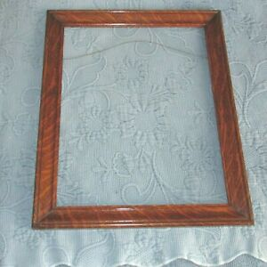 Antique Victorian Tiger Oak Picture Frame 11 75 By 15 Inch