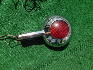 1940 S 1950 S Unusual Handheld Spotlight With Red Lens On Back Police Fire