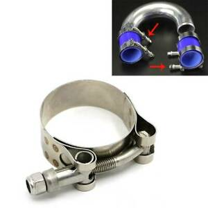 Stainless Steel T Bolt Clamps Clamp 40 47mm Heavy Duty Clips Silicone Exhaust
