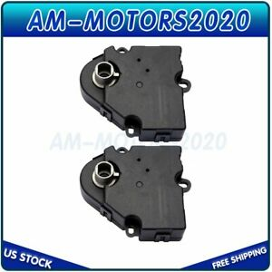2x For Buick Chevrolet Gmc Acadia Hvac Ac Heater Blend Door Actuator 15232218