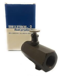 deltrol 3 4 Hydraulic In line Flow Control Throttle Check Valve 5000psi