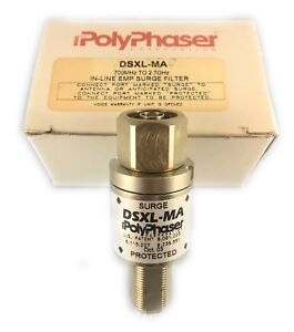 polyphaser Dsxl ma In line Rf Coaxial Emp Lightning Surge Filter Protector