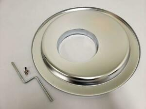 14 Round Chrome Air Cleaner Offset Hei Base Ford Chevy Edelbrock Holley 5 1 8
