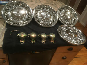 Cadillac Spoke Wheel Covers Hubcaps Attaching Hardware And Tool Oem