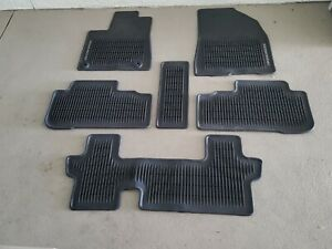 2014 2019 Toyota Highlander Oem All Weather Rubber Floor Mat Set Pt908 48140