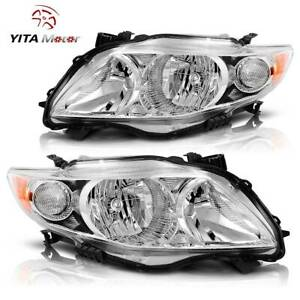 Yitamotor For 2009 2010 Toyota Corolla Headlights Headlamp Lamps Aftermarket L R