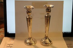 Vintage Sterling Candlestick Holders Beautiful