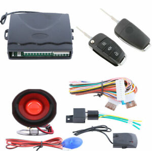 1x Car Alarm System One Way Anti Theft Device Security Alert With Remote Control