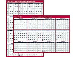 At a glance 2020 32 X 48 Wall Calendar Red Pm36ap 28 21
