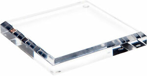 Plymor Clear Acrylic Square Beveled Display Base 0 75 H X 5 W X 5 D