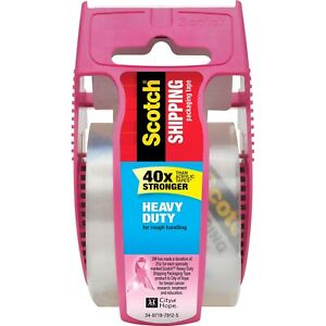 Scotch Heavy duty Shipping Packing Tape 2 x800 Pink 142pc