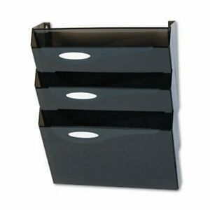 Rubbermaid Hot File Wall File Systems Letter 3 Pockets Smoke rubl16603