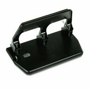 Master 40 sheet Heavy duty 3 hole Punch Gel Pad Handle Black matmp50