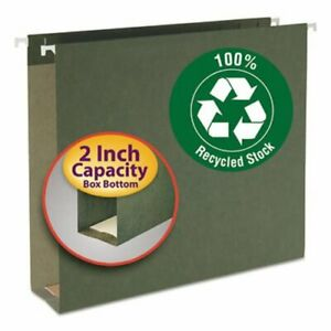 Smead 2 Inch Capacity Hanging File Folders Green 25 Per Box smd65090